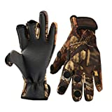 Thekuai Fishing Gloves Convertible 3 Cut Fingers for Men and Women...