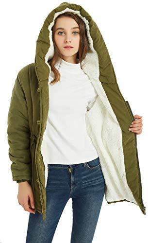 VOGRYE Womens Winter Fashion Outdoor Warm Wool Blended Classic Pea Coat Jacket (FBA) (M, N-Green)