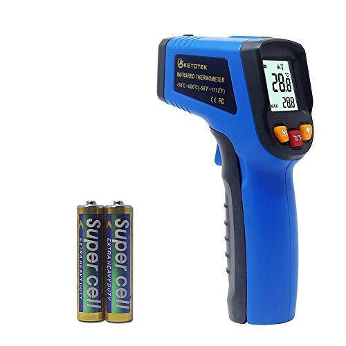 KETOTEK Termómetros Infrarrojos Láser Digital Infrared