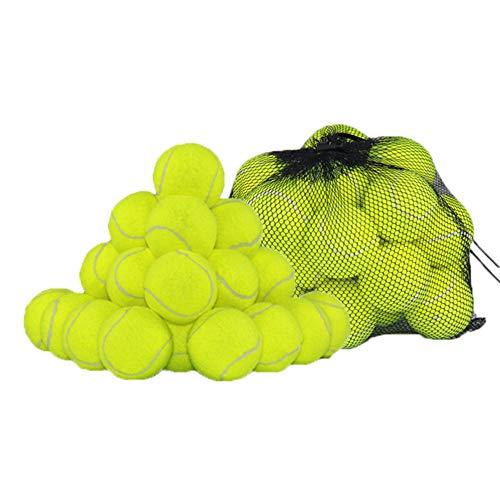 Set di 24 palline da tennis con rete gigante ,ideali per partite di tennis per principianti e semi-professionisti su campi in terra battuta o per giocare con il cani/pucciolo, atossico per i cane