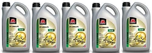 Millers Oils XF Longlife 5w40 C3 SN Dexos 2 volledig synthetische motorolie, 25 liter
