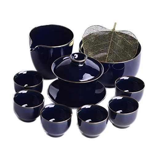 Juego de tetera de cerámica para té, taza de té, taza de té y fugas de té, juego de té con té
