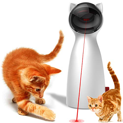 PIEHIK Cat Laser Toy Automatic,Automatic Rotating Laser Pointer for...