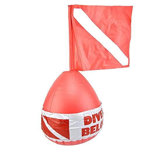 finebrand Dive Boje Oberfläche Marker Tauchen Signal Flag Aufblasbare Kugel PVC-sicherheitszeichen Diver Below Red