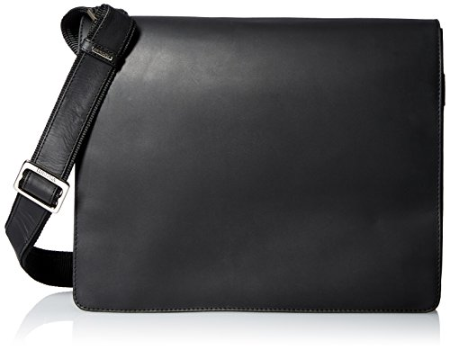 Visconti Harvard Distressed Leather Messenger Bag, Black, One Size