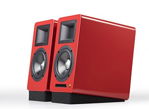 AmazonUkkitchen AirPulse A100 Actieve Boekenplank Bluetooth HiRes Audio Speaker Systeem met handtekening Phil Jones Ontwerp - A100 - Rood A100-Red Rood