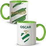 LolaPix Taza Betis. Tazas Personalizadas con Nombre. Taza Desayuno fútbol. Regalos Personalizados. V...