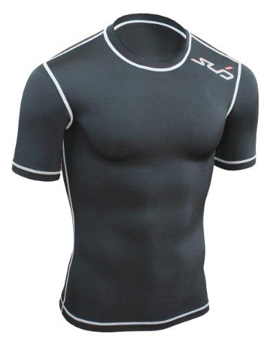 Sub Sports - Running Kompressions-T-Shirts für Jungen in Schwarz, Größe 140/146 (MY Medium youth)