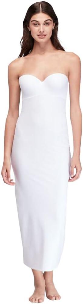 David's Bridal Strapless Full Regular discount Sales Length Bra Style Slip 1123WHITE