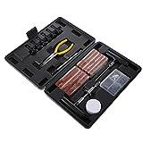 VICASKY 93 Piezas Kit Universal de Reparación de Neumáticos Herramienta de Gran Resistencia para Reparación de Neumáticos Planos Kit de Reparación de Neumáticos Planos Kit de Enchufes