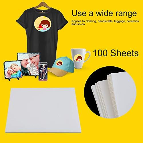 100 Hojas de Papel de sublimación A4 de poliéster y algodón, para Planchar sobre la Camiseta: Amazon.es: Hogar