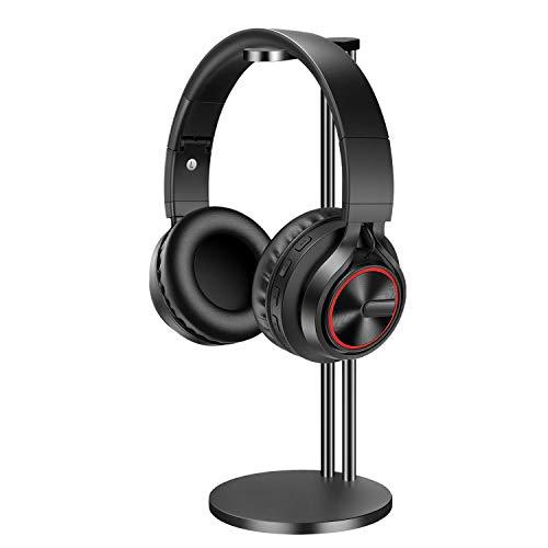 EletecPro Soporte universal para auriculares de juegos de aleación de aluminio con soporte para colgador de rack para todos los tamaños de auriculares Negro