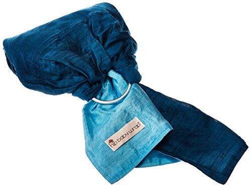 Hip Baby Wrap Dupioni Silk Ring Sling Baby Carrier for Infants and Toddlers (Sapphire (light blue/dark blue)))