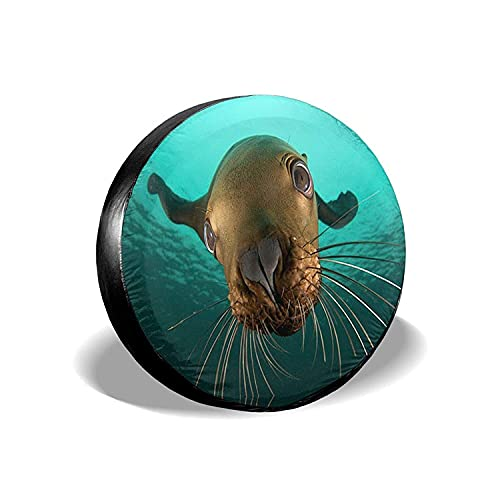 MODORSAN Animals Sea Lion Seal - Cubierta Universal para Llantas de Repuesto, Protectores de Llantas Impermeables a Prueba de Polvo para Jeep, remolques, RV, SUV y Camiones, 16 Pulgadas