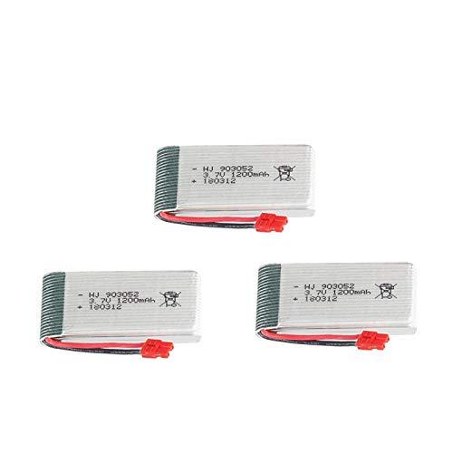 RFGTYH Batería lipo de 3,7 V 1200 mah para SYMA X5 X5S X5C X5SC X5SH X5SW RC Drone Quadcopter 903052 batería Recargable de 3,7 V 3pcs