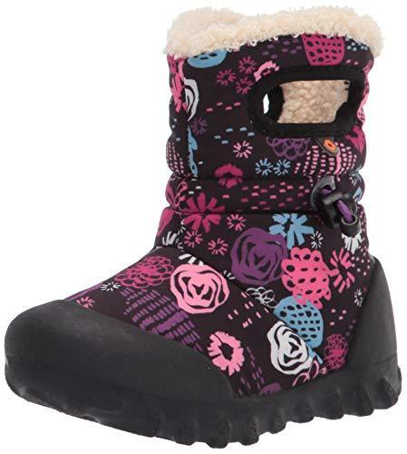 BOGS unisex child B-moc Snow Rain Boot, Garden Party-black, 4 Infant US