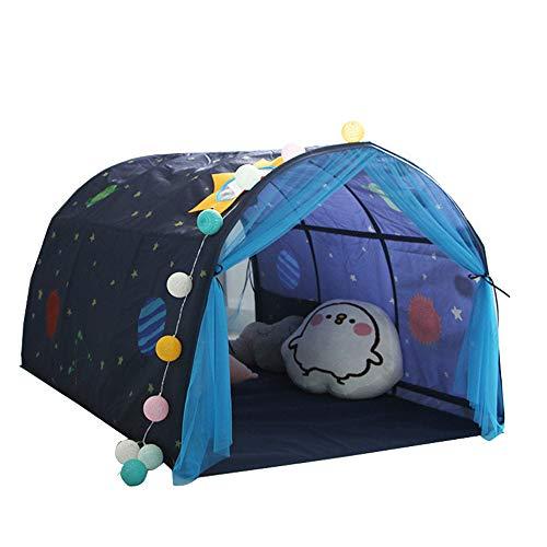 Cama plegable para niños Tienda de campaña Game House Kid Dream Pop Up Cuna Canopy Mosquitero (azul)