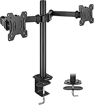 HUANUO Dual Monitor Stand for 13-27 inch Screens Fully Adjustable Dual Monitor Mount