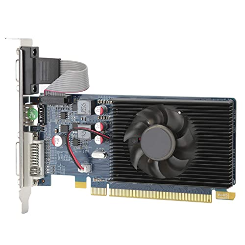Scheda grafica PCI Express 3.0 DDR3 a 64 bit per computer desktop, scheda video HD6450 2G con chip per AMD per computer, scheda grafica silenziosa per giochi