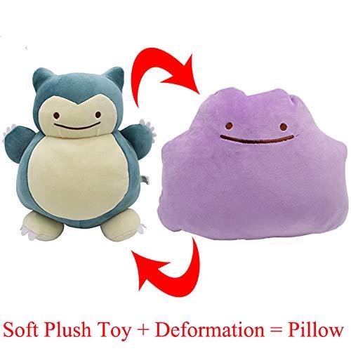 PampasSK Stuffed & Plush Animals - Snorlax Pikachu Ditto Metamon Inside-Out Cushion Plush Bag Purse New Dual-use Pillow Stuffed Plush Doll Figure Toys 1 PCs