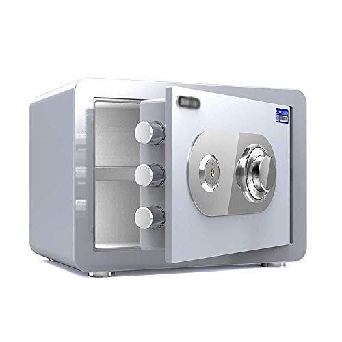 Mr.T/Office safe Safes, All Steel Mechanical Password Security Safe Box 25cm Small Home Office Password Key Lock Box voor Sieraden Cash File ID Kaart Klein huis veilig