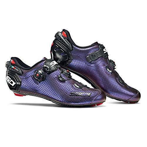scarpe bici da corsa sidi SIDI Wire 2 Air Limited Edition Iridescente Suola Carbonio Scarpe Bici Blu Rosso Ciclismo Strada Corsa tg. 41 EU