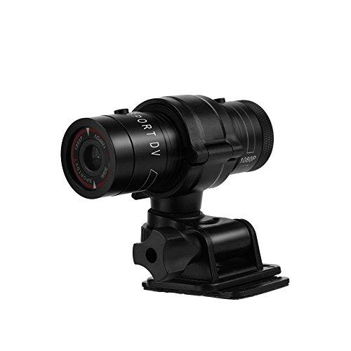 Mini videocamera Portatile Impermeabile Full HD 1080P, Sportiva DV di Azione del Casco della Bici Ideale per Campeggio,Trekking,Viaggi,Gli Sport Esterni,ECC