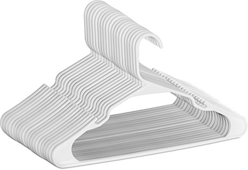 Utopia Home [50 Paquete] Perchas - Perchas de plástico estándar de alta calidad, duraderas y delgadas, para adultos 42 cm – Blanco