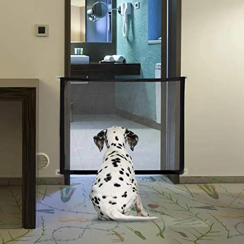 Magic Gate for Dog, Mesh Dog Gate, Portable Folding Baby Gate , Safety Guard for Pet, Safety Fence for Stairways...