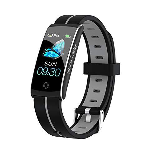 SmartWatch para Hombres Y Mujeres Capacidad De La Batería 90mAh Sports Smart Watch Sleep Pedómetro Reloj Despertador Reloj Inteligente (Color : Gray)