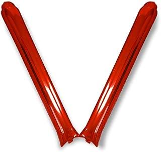 【メタルレッド】スティックバルーン2本組 10セット プライム