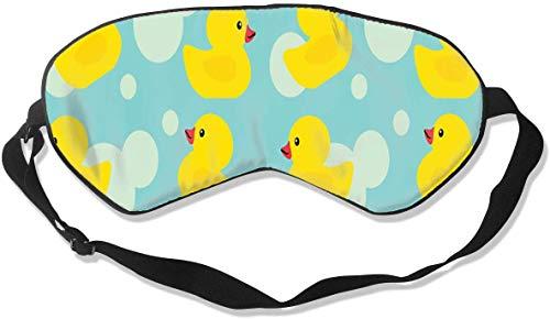 Damen Herren Schlafmaske, Seide, mit verstellbarem Kopfband, bequeme Schlafmaske, Augenschutz für Reisen, Schichtarbeit und Meditation, Gummientchen