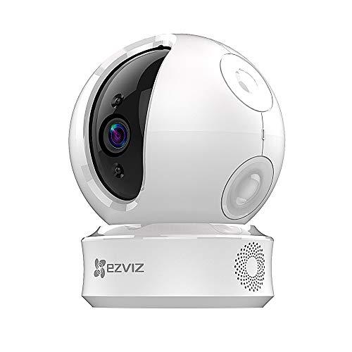EZVIZ C6C 720p Telecamera di Sorveglianza, 360° WiFi Videocamera Interno, Audio Bidirezionale, Maschera Intelligente della Privacy, tracciamento del movimento, Cloud, Compatibile con Alexa