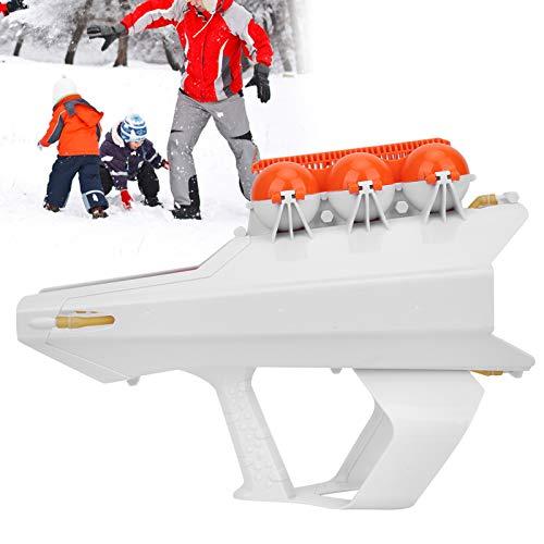 Pistola lanzadora de Bolas de Nieve, Fabricante de Bolas de Nieve 2 en 1, Que Hace Bolas de Nieve para Adultos lanzando Bolas de Nieve para niños((White))