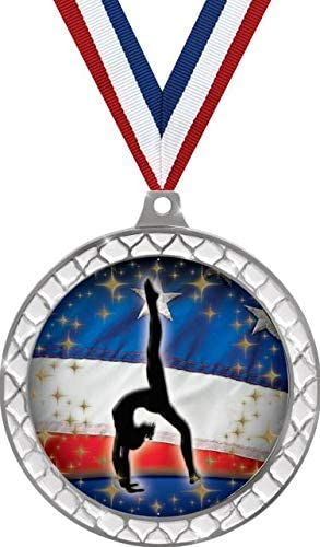 Ranking TOP8 Gymnastics White Trellis Medal Silver Back Walkover Pr Gym New Shipping Free Shipping 2.5