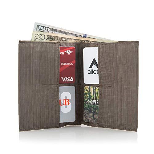 Allett Slim Nylon Original Wallet - Brown