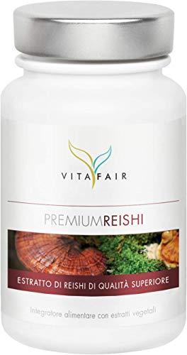 Reishi (Ganoderma Lucidum) - 500mg per Porzione - 100 Capsule - 30% Polisaccaridi Bioattivi - Vegano - Senza sali di Magnesio - German Quality