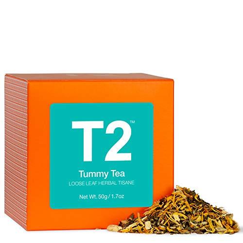 Photo of T2 Tea – Tummy Tea Herbal Tea Tisane, Loose Leaf Herbal Tea in a Box, Peppermint & Liquorice Flavoured Tea, 50g