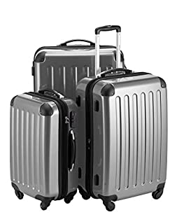 HAUPTSTADTKOFFER - Alex- Set of 3 Hard-side Luggages Trolley Suitces Expandable, (S, M & L), silver (B007AJSLV4)   Amazon price tracker / tracking, Amazon price history charts, Amazon price watches, Amazon price drop alerts