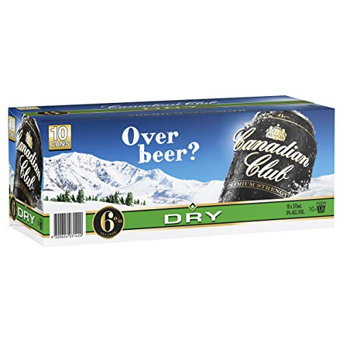 Canadian Club Premium Whisky & Dry Cans, 375ml (Pack Of 10)