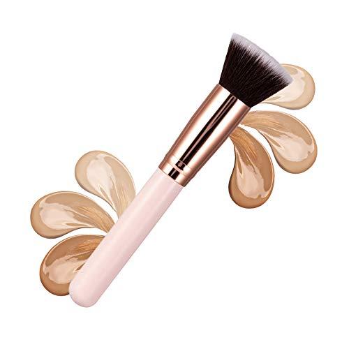 Ealicere Pinceau Fond de Teint Professionnel Kabuki pour Maquillage du Visage Parfait Pour le Mélange Liquide, Crème ou Poudre Cosmétique Sans Défaut