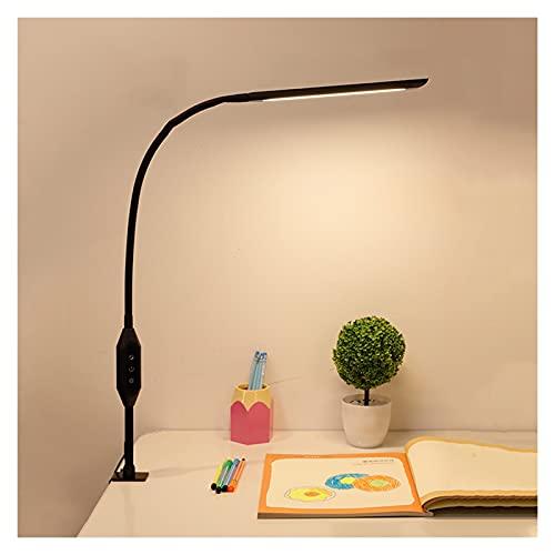 Lámpara de Escritorio Home Long Long Clip Light LED Lámpara de Escritorio con 5 Modos de Color y 5 Brillo Dimmer Dimmer Flexible Canseck Bed Night Light con Control Remoto, Interruptor táctil Lámpara