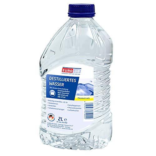 EUROLUB 819002 Destilliertes Wasser, 2 Liter