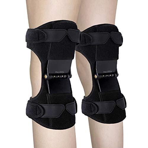Knee Support Pads, 2020 Upgrade Power Knee Stabilizer Pads Knee Brace with 4 Powerful Springs,...