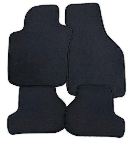Preisvergleich Produktbild Passgenaue hochwertige Velours Fussmatten Autoteppiche Centauer Farbe Schwarz 745