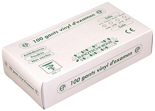 Euro Protection 5712 Boîte de 100 Gants Vinyle Poudre usage court Taille XL