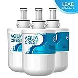 AQUACREST DA29-00003G Filtre à Eau pour Réfrigérateur, Compatible avec Samsung Aqua Pure Plus DA29-00003G,DA29-00003B,DA29-00003A,DA97-06317A,DA61-00159A,HAFCU1/XAA,HAFIN2/EXP,APP100, WSS-1,WF289 (3)