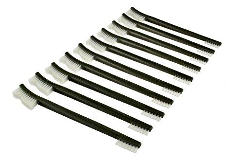 Juego de 3 cepillos y 2 púas con doble terminación para limpieza de pistolas SE 7624BC-5.