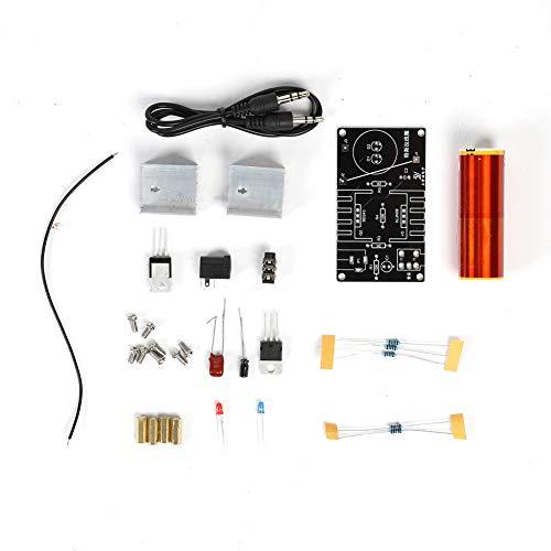 Raguso Altavoz de Plasma Anticorrosión Tesla Coil Electronics DIY Accesorio Profesional con Cable de Audio
