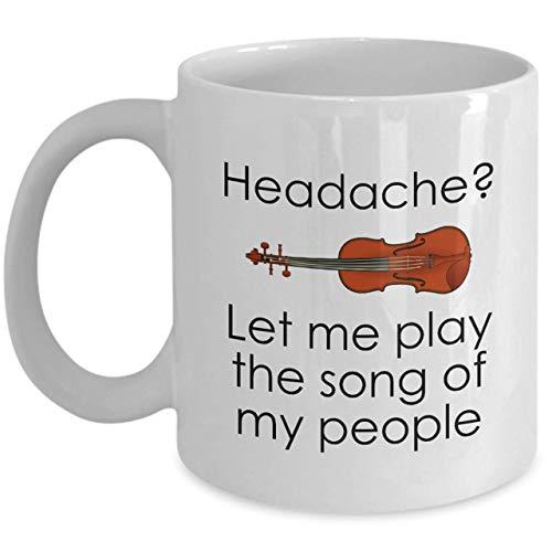 NA Taza Divertida para violín Regalo para violín Regalo para Viola Idea de Regalo para Violinista Jugador de violín Presente Déjame Tocar la canción de mi Gente